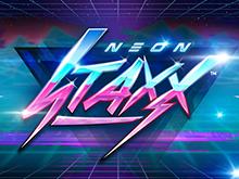 Neon Staxx: логотип слота